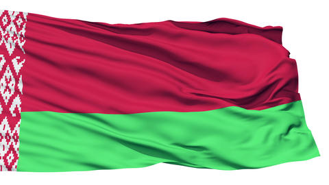 Waving national flag of Belarus Stock Video Footage