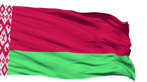 Waving national flag of Belarus Stock Video Footage
