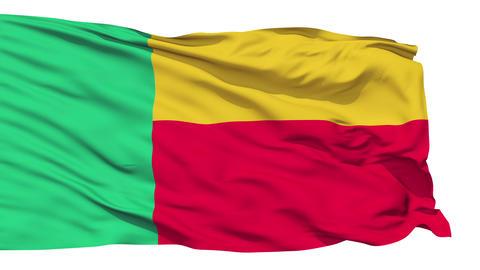 Waving national flag of Benin Stock Video Footage