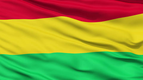 Waving national flag of Bolivia Stock Video Footage