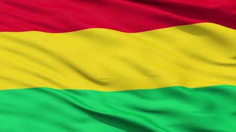 Waving national flag of Bolivia Animation