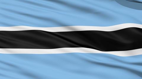 Waving national flag of Botsvana Stock Video Footage