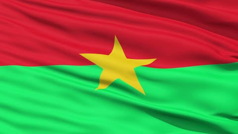 Waving national flag of Burkina Faso Stock Video Footage