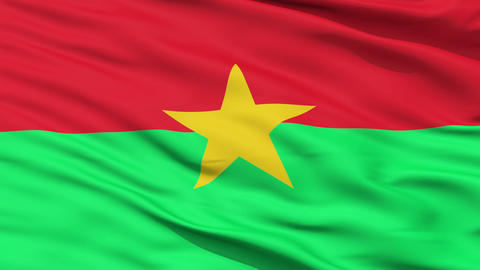 Waving national flag of Burkina Faso Animation