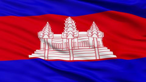 Waving national flag of Cambodia Animation