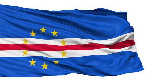 Waving national flag of Cape Verde Stock Video Footage