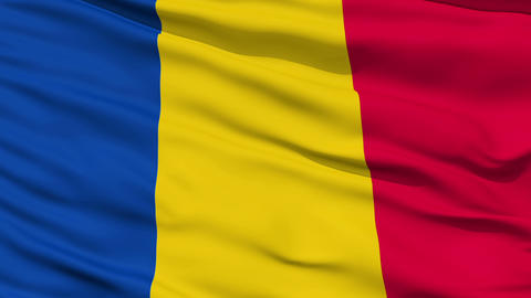 Waving national flag of Chad Animation