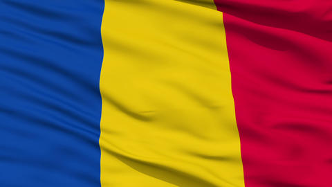 Waving national flag of Chad Stock Video Footage