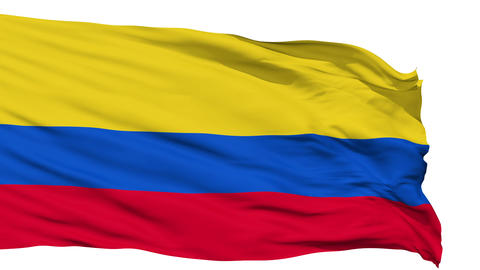 Waving national flag of Colombia Animation