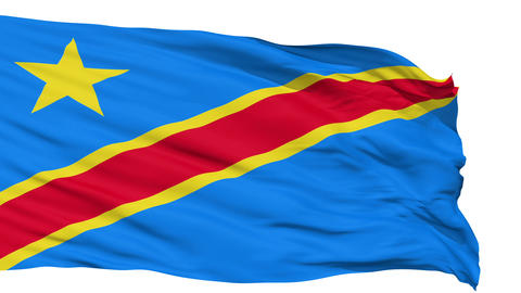 Waving national flag of Congo Animation
