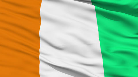 Waving national flag of Cote d'Ivoire Animation