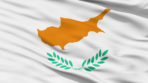 Waving national flag of Cyprus Animation