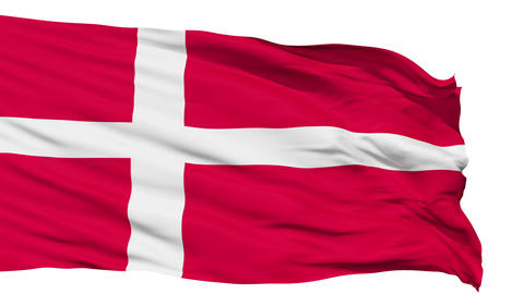 Waving national flag of Denmark Animation