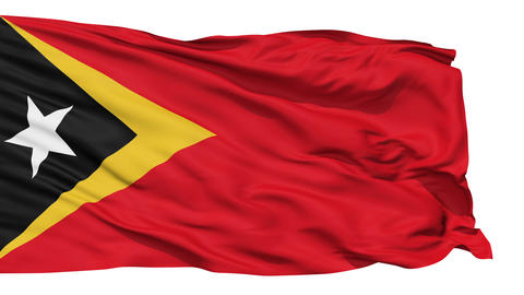 Waving national flag of East Timor Stock Video Footage