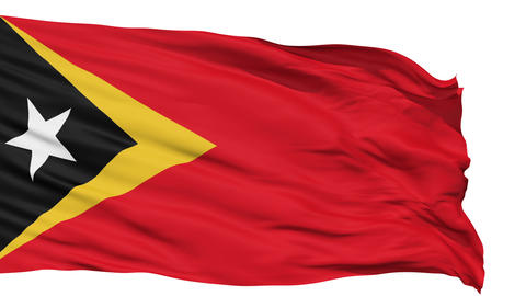 Waving national flag of East Timor Animation