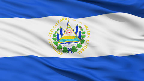 Waving national flag of El Salvador Stock Video Footage