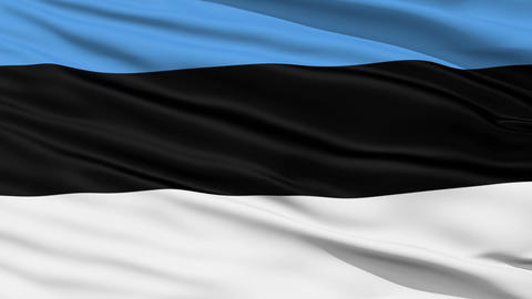 Waving national flag of Estonia Stock Video Footage