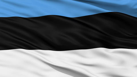 Waving national flag of Estonia Animation