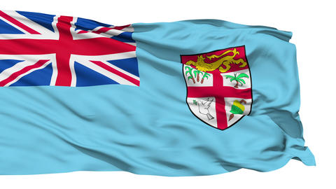Waving national flag of Fiji Stock Video Footage