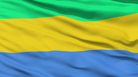 Waving national flag of Gabon Stock Video Footage