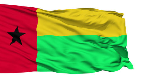 Waving national flag of Guinea Bissau Stock Video Footage