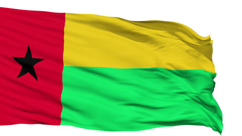 Waving national flag of Guinea Bissau Animation