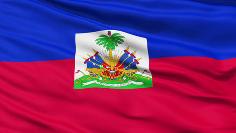 Waving national flag of Haiti Stock Video Footage