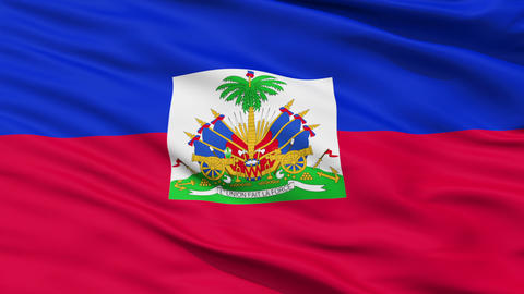 Waving national flag of Haiti Animation