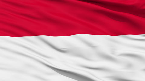 Waving national flag of Indonesia Animation