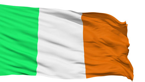 Waving national flag of Ireland Animation