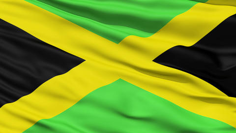 Waving national flag of Jamaica Stock Video Footage