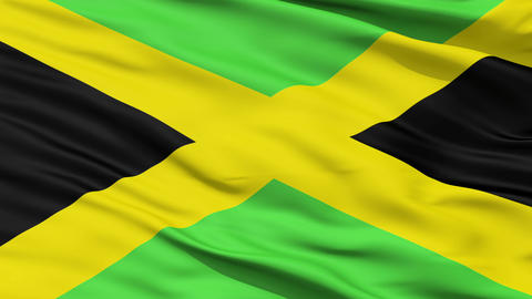 Waving national flag of Jamaica Animation