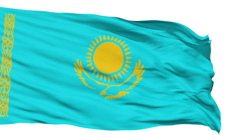 Waving national flag of Kazakhstan Stock Video Footage