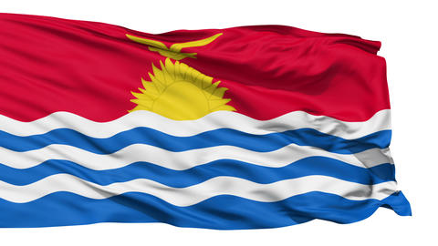 Waving national flag of Kiribati Stock Video Footage