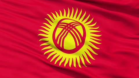 Waving national flag of Kyrgyzstan Animation