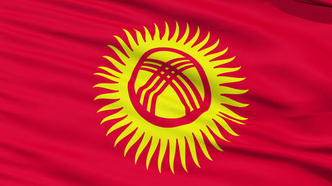 Waving national flag of Kyrgyzstan Stock Video Footage