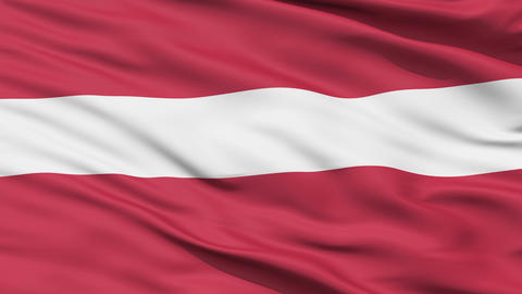 Waving national flag of Latvia Animation