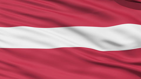 Waving national flag of Latvia Stock Video Footage