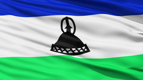 Waving national flag of Lesotho Stock Video Footage