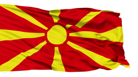 Waving national flag of Macedonia Stock Video Footage