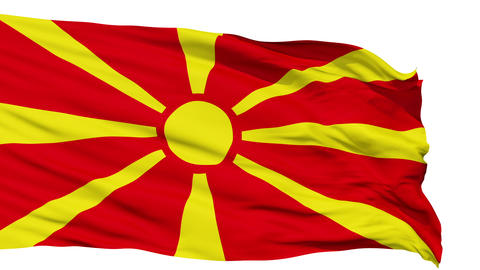 Waving national flag of Macedonia Animation