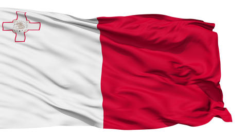 Waving national flag of Malta Stock Video Footage