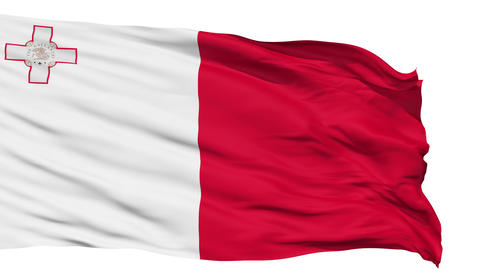 Waving national flag of Malta Animation