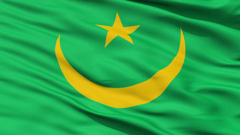 Waving national flag of Mauritania Animation