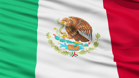 Waving national flag of Mexico Stock Video Footage