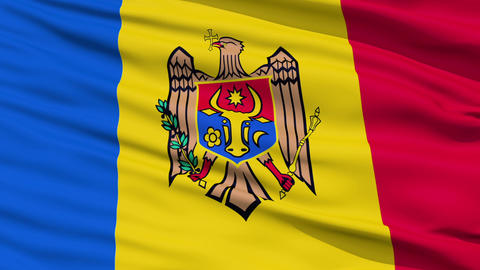 Waving national flag of Moldova Stock Video Footage