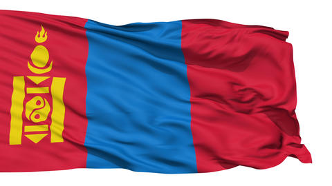 Waving national flag of Mongolia Stock Video Footage