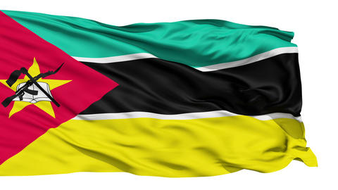 Waving national flag of Mozambique Stock Video Footage