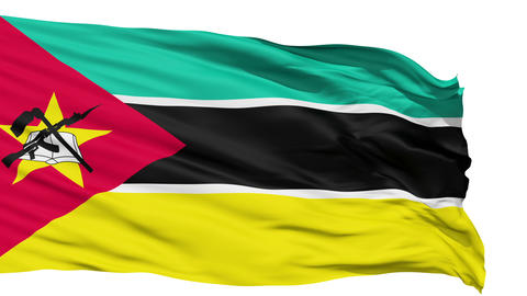 Waving national flag of Mozambique Animation