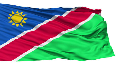 Waving national flag of Namibia Stock Video Footage